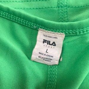 Fila green v neck tank